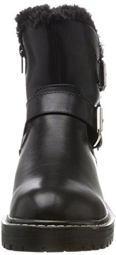 Femme Bl silver Bottes Motardes 1396 black Noir Blink Bgumpl 187 SaOACOq