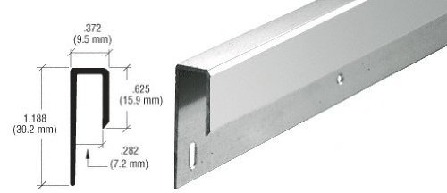 CRL Brite Anodized 1/4 Deep Nose Aluminum J Channel - 12 ft long by C.R. Laurence