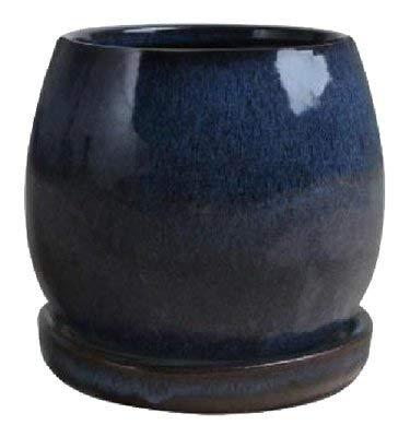 - Trendspot 8in Artisan Planter, DRIP BLUE