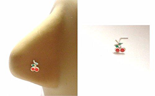 Clear 2 mm Crystal Bezel Set Nose Twist Cork Screw Ring Stud 18 Gauge 18g - Cork Twist
