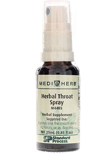 MEDIHERB Herbal Throat Spray – Improved Respiratory Tract Function – Promote Healthy Throat Tissue – All Natural Ingredients – Organic Herbal Supplements – Non-GMO – Made in The USA – 0.8 fl oz