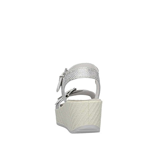 Enval Soft 1284344 Women's Leather Wedge Sandal Argento OfmXNdN