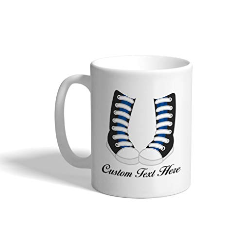 (Custom Funny Coffee Mug Coffee Cup London Doll High Converse White Ceramic Tea Cup 11 Ounces Personalized Text)