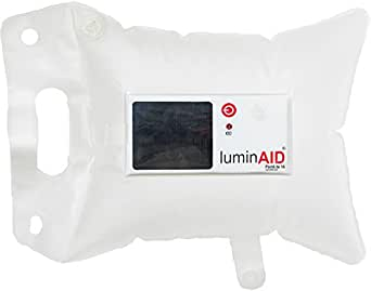 LuminAID PackLite 16 Inflatable Solar Light, Clear, One Count