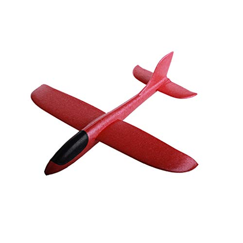 Kid Baby Gift Foam Throwing Glider Airplane Inertia Aircraft Toy Hand Launch Airplane Model (Watermelon Red)]()