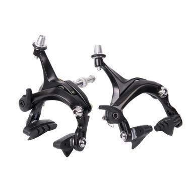 Dioche Bike Brakes, Road Bike V Shape Mechanical Dual-Pivot Brake Set Repair Parts Accessory (1 Pair) (Pivot Bicycle)