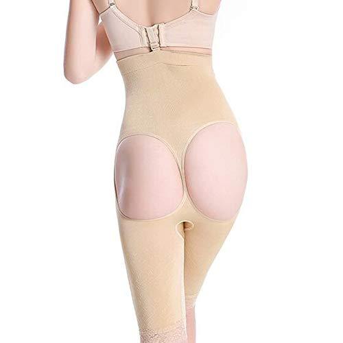 Price comparison product image HXZB Super High-Waist Briefs Women's Butt Lifter Women Shapewear Biefs, Skincolor, M / L