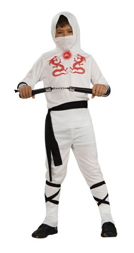 Haunted House Child's White Ninja Costume, Large -