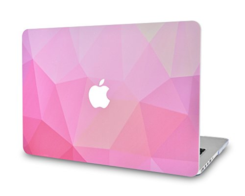 LuvCase Rubberized Plastic Hard Shell Cover Compatible MacBook Pro 13 inch A2159 / A1989 / A1708 / A1706 with/Without Touch Bar, Newest Release 2020/2019/2018/2017/2016 (Pink Diamond)