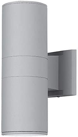 Wall Lamp Up Down Cylinder Outdoor Wall Mounted Light in Gray Finish Exterior Light fixtures