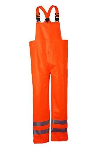 National Safety Apparel R40RQ14XL Arc H20 Bib Pant, FR Polyurethane Coated FR cotton, X-Large, Orange