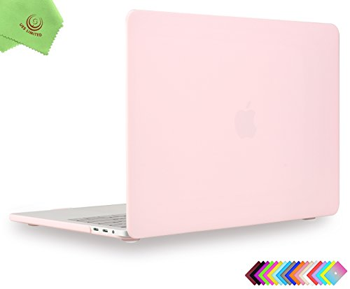 MacBook Pro 13 inch Case 2018 2017 2016, UESWILL Smooth Matte Hard Case for MacBook Pro 13-inch, 2/4 Thunderbolt 3 Ports (USB-C), with/Without Touch Bar, Model A1989/A1706/A1708, Rose Quartz