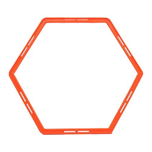 CHoppyWAVE 6Pcs Hexagon Agility Exercise Training Rings Perfect for Soccer, Football, Basketball Coaching, Agility Drill Orange (Best Plyometric Exercises For Basketball)