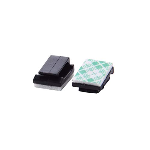 Hooks & Rails - 100pcs Wire Clip Black Car Tie Rectangle Cable Holder Mount Clamp Self Adhesive - Wire Clips Hooks Rails Hanger Self Adhesive Crochet Hook Plastic Cable Clamp Black Cufflin - Rectangular Cufflinks Steel