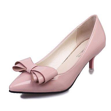Violet Printemps Marche blushing Bas Chaussures Femme LvYuan Polyuréthane Talons pink ggx cm de Noeud Talon 5 Argent 2 Automne Noir Moins Rouge Rose à 6pBYq