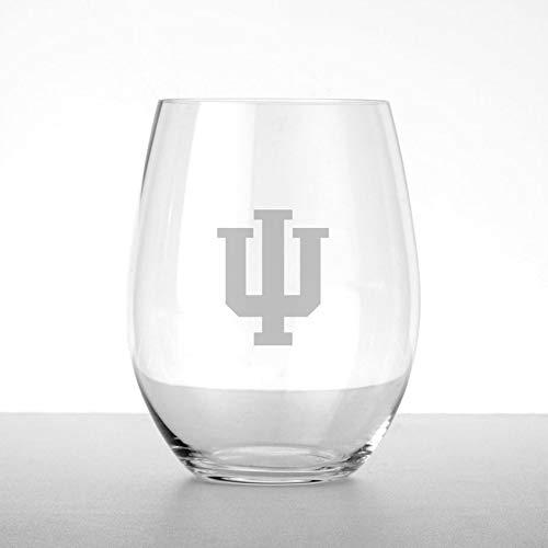 M. LA HART Indiana University Stemless Wine Glasses - Set of 4