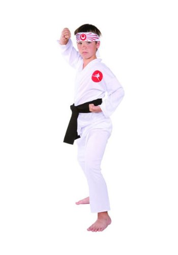 Child Karate Kid Costumes (RG Costumes Karate Boy Costume, White, Large)