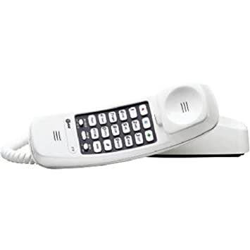amazon com at t 210m trimline corded phone 1 handset white at t 210m trimline corded phone 1 handset white