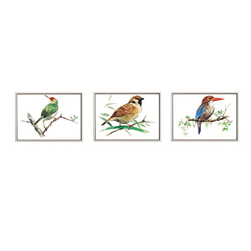 Sumeru Art Oil Painting Hand Painted Stretched Framed Bird Landscape2 Modern Abstract Painting Canvas Living Room Bedroom Office Wall Art Home -