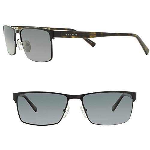 Ted Baker BENROTH Rectangle Sunglasses, B621, Black & ()