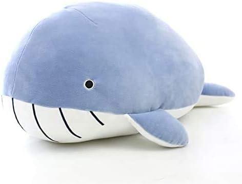 Lapeche Whale Plush Soft Toy 19.6 inch Stuffed Sea Ocean Elastic Plushie Aquatic Animals Doll Hugging Soft Pillow Toy (Shark)