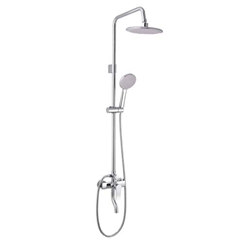 YHNUJMIK Shower Set Four Square Copper rotatable Faucet Set hot and Cold Bathroom Three-Speed Bathroom Concealed Triple Water Mixing Valve Set