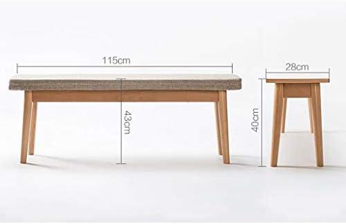 Pin wu panca cuscino in spugna panca in legno sgabello da tavolo