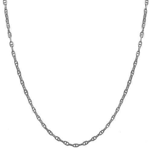 Solid Fancy Link (Sterling Silver 1.9mm Fancy Mariner Link Chain (20)