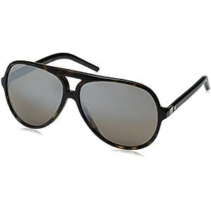 Marc Jacobs Marc70s Aviator Sunglasses, Dark Havana/Dark Brown Mirror Silver, 60 mm
