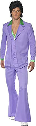 60s -70s  Men's Costumes : Hippie, Disco, Beatles Smiffys Mens Lavender 1970s Suit Costume Jacket $63.68 AT vintagedancer.com