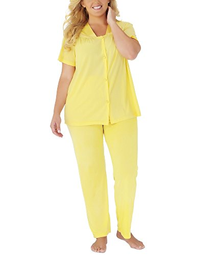Exquisite Form Women's Coloratura Sleepwear Short Sleeve Pajama Set 90107, Daffodil, Medium