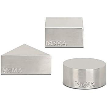 MoMA Metal Paperweight Set in Geometric Patterns