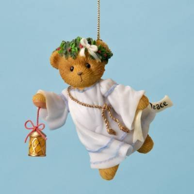Ornament Angel Peace - 2011 Cherished Teddies Bear As Peace Angel Ornament 4023745