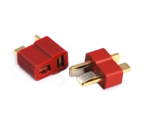 niceEshop(TM) Skidproof T Plug Connectors Deans Style Male And Female Connectors for ESC Battery,Set Of 2Pcs
