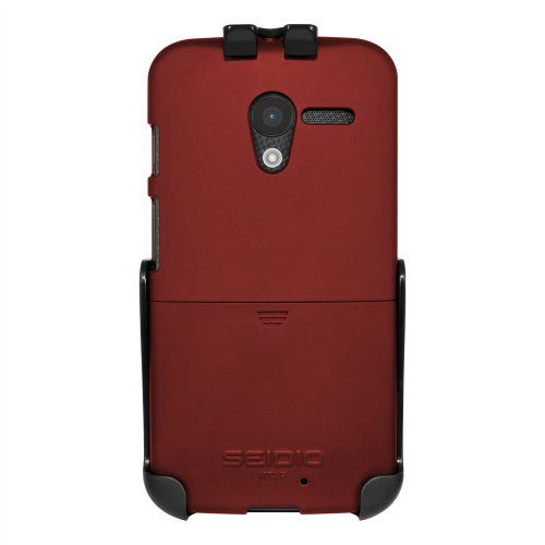 Seidio BD2-HR3MTXP-GR SURFACE Case and Holster Combo for use with Motorola Moto X - Combo Pack - Retail Packaging - Garnet - Innocase Seidio Surface Holster