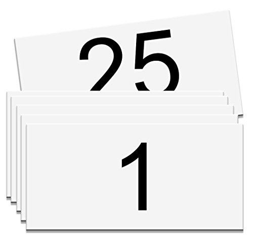 Numbered Magnetic Rack/Shelf Label (Numbered 1 - 25) by NapTags