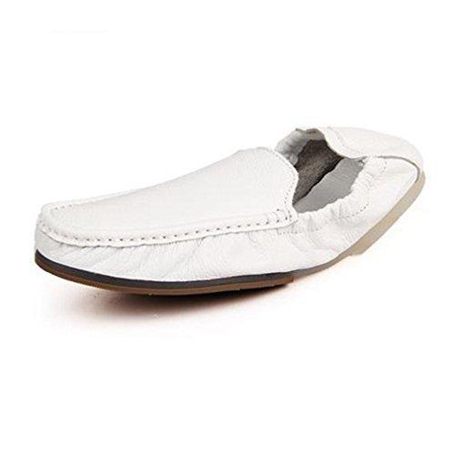[QIFENGDIANZI]メンズシューズ レースアップ カジュアルシューズ 紳士靴 滑り止め 快適な履き心地 通気性抜群 かっこいい お洒落 通勤用 黒 白 オレンジ ブルー
