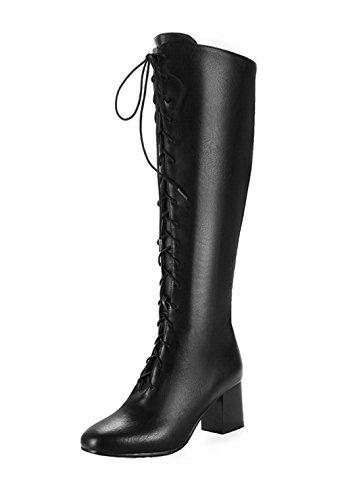 Pu Femme Ageemi Cuir Haut Shoes YTwqE0