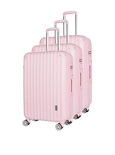 COMPAGNIE DU BAGAGE Set de 3 trolleys rígidos  Rosa