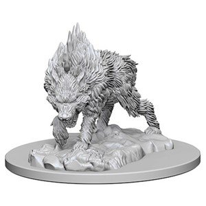 Pathfinder: Deep Cuts Unpainted Miniatures - Dire (Cut Wolf)