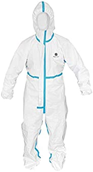 Silver Crystal Health Disposable Full-Body Protection Jumper with Hood