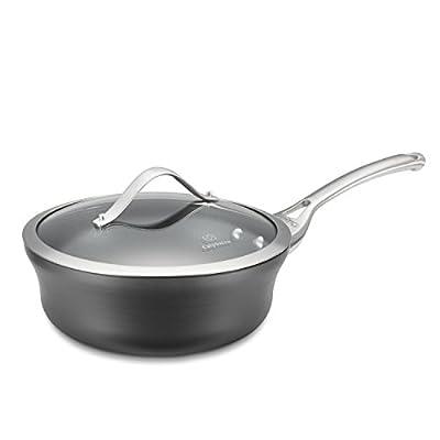 Calphalon Contemporary Hard-Anodized Aluminum Nonstick Cookware, Sauce Pan, 4 1/2-quart, Bronze