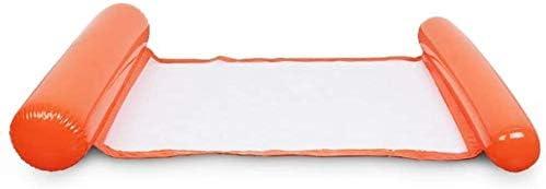 インフレータブルプール夏インフレータブルフローティング行水ハンモックインフレータブルエアマットレスプールビーチフローティングスリーピングクッションベッド (Color : Orange, Size : Free)