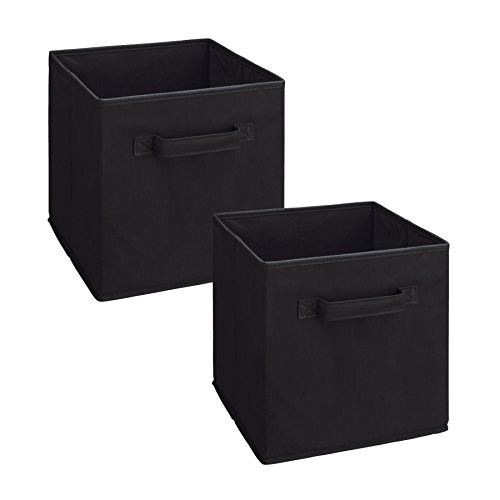 ClosetMaid 3784 Cubeicals Fabric Drawer, Black, 2-Pack (Closet Maid Black Drawer)
