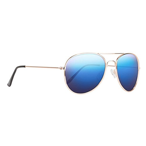 Nectar Classic Metal Aviator Sunglasses w/ Polarized Lenses & UV Protection (Gold Frame, Blue Mirror Euphoric H D Polarized - Lenses You Can Ray Replace In Bans
