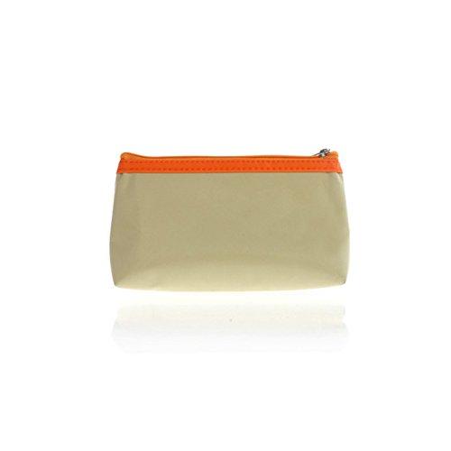 Las señoras simple impermeable bolso cosmético/trompeta móvil Pack/Monedero de la moneda/bolsa versátil-B B