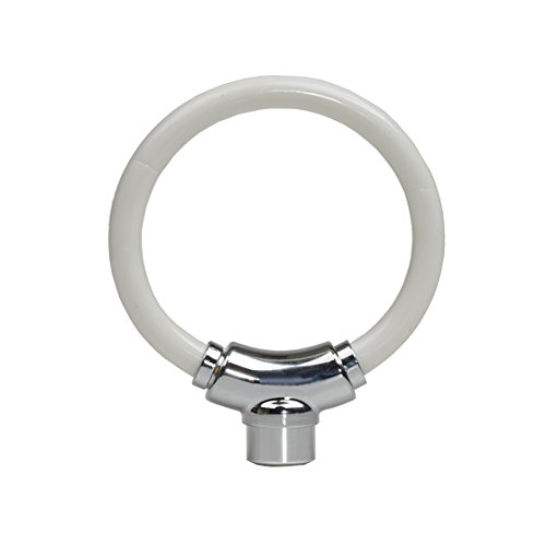 White Flexible Ring Bike Cable Lock
