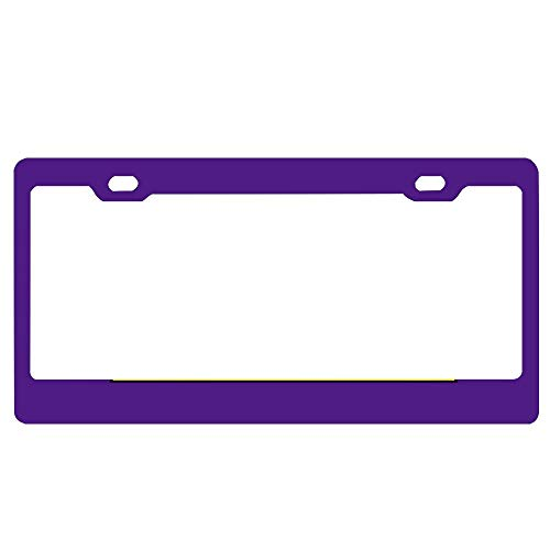 - SDGlicenseplateframeIUY Purple Pansy License Plate Personal Design Cover License Plate Auto Tag Metal Plate 6x12 Inch.