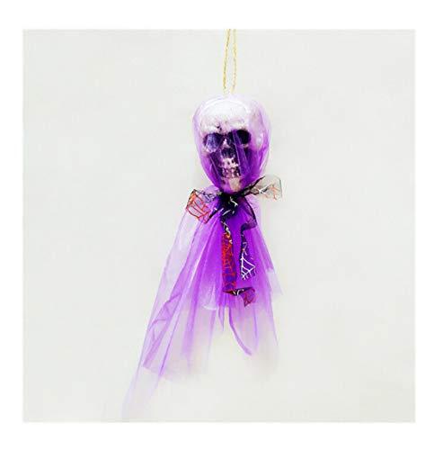 1pc Ghost Hanging Hangtag Halloween Props Kids Joking Toys Party 32cm x 8cm Purple OneSize]()