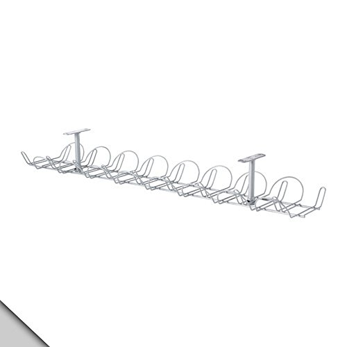 IKEA - SIGNUM Cable management, horizontal, silver color (FBA) (Pack 2)